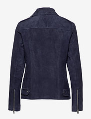 Lauren Ralph Lauren - Leather Moto Jacket - leather jackets - deep cobalt - 2