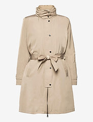 Lauren Ralph Lauren - 2-in-1 Vest and Coat - trenchcoats - taupe - 0