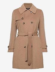 Lauren Ralph Lauren - Wool-Blend Trench Coat - uldfrakker - khaki - 2