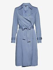 Lauren Ralph Lauren - Wrap-Style Duster Coat - trenchcoats - slate blue - 1