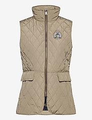 Lauren Ralph Lauren - Quilted Crest Vest - puffer vests - taupe - 1