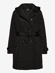 Lauren Ralph Lauren - Quilted Trench Coat - quiltede jakker - black - 1