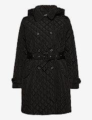 Lauren Ralph Lauren - Quilted Trench Coat - quiltede jakker - black - 2