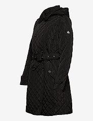 Lauren Ralph Lauren - Quilted Trench Coat - quiltede jakker - black - 4