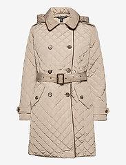 Lauren Ralph Lauren - Quilted Trench Coat - quiltede jakker - taupe - 2