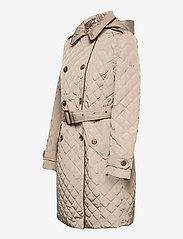 Lauren Ralph Lauren - Quilted Trench Coat - quiltede jakker - taupe - 4