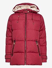 Lauren Ralph Lauren - Hooded Down Coat - forede jakker - chili - 2