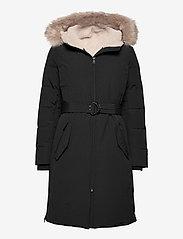 Lauren Ralph Lauren - Belted Hooded Down Coat - parkacoats - black - 0