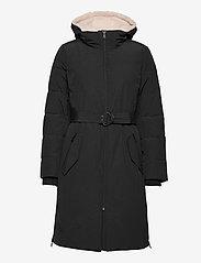 Lauren Ralph Lauren - Belted Hooded Down Coat - parkacoats - black - 2