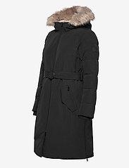 Lauren Ralph Lauren - Belted Hooded Down Coat - parkacoats - black - 4