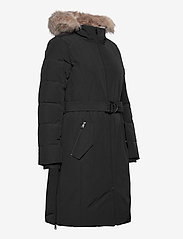 Lauren Ralph Lauren - Belted Hooded Down Coat - parkacoats - black - 5