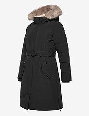Lauren Ralph Lauren - Belted Hooded Down Coat - parkacoats - black - 6
