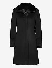 Lauren Ralph Lauren - Wool-Cashmere Coat - uldfrakker - black - 1