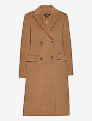 Lauren Ralph Lauren - Wool-Blend Maxi Coat - uldfrakker - new vicuna - 0