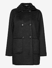 Lauren Ralph Lauren - Reversible Faux-Suede Coat - frakker - black - 1