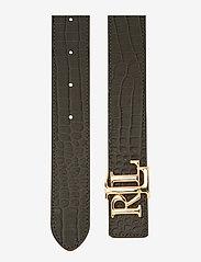Lauren Ralph Lauren - Reversible Leather Belt - belter - deep olive/taupe - 3