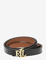 Lauren Ralph Lauren - Reversible Leather Belt - riemen - black/lauren tan - 0