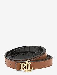 Lauren Ralph Lauren - Reversible Leather Belt - riemen - black/lauren tan - 1