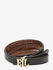 Lauren Ralph Lauren - Reversible Leather Belt - riemen - deep saddle tan/b - 1