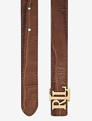Lauren Ralph Lauren - Reversible Leather Belt - riemen - deep saddle tan/b - 2
