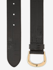 Lauren Ralph Lauren - Crocodile-Embossed Leather Belt - riemen - black - 1