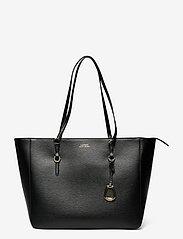 Lauren Ralph Lauren - Saffiano Leather Tote - shoppere - black - 0