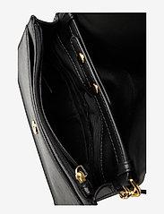 Lauren Ralph Lauren - Leather Medium Crossbody Bag - na ramię - black - 5