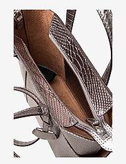 Lauren Ralph Lauren - BOLD PYTHON EMBOSS-CARLYLE 20-TTE-M - torebki - silver - 5