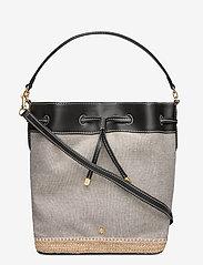 Lauren Ralph Lauren - Canvas Debby Drawstring Bag - sacs seau - black - 0