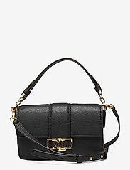 Lauren Ralph Lauren - Leather Spencer Shoulder Bag - skuldertasker - black - 0