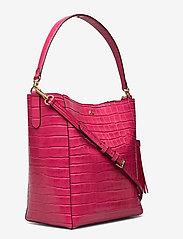 Lauren Ralph Lauren - Medium Adley Shoulder Bag - bucket-tasker - ruby - 2