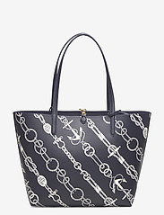 Lauren Ralph Lauren - Faux-Leather Reversible Tote - torby na zakupy - anchored ropes/la - 2