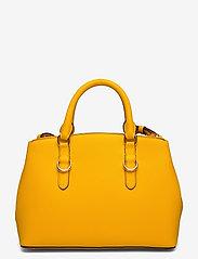 Lauren Ralph Lauren - Saffiano Leather Mini Satchel - top handle - canary yellow - 1