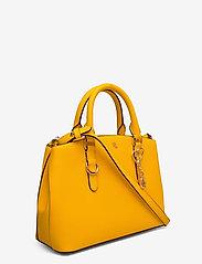 Lauren Ralph Lauren - Saffiano Leather Mini Satchel - top handle - canary yellow - 2
