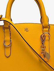 Lauren Ralph Lauren - Saffiano Leather Mini Satchel - top handle - canary yellow - 3