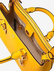 Lauren Ralph Lauren - Saffiano Leather Mini Satchel - top handle - canary yellow - 4