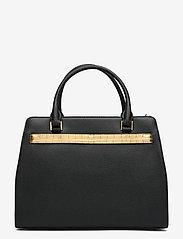 Lauren Ralph Lauren - Leather Medium Fenwick Satchel - handväskor - black/antique gol - 1
