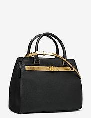 Lauren Ralph Lauren - Leather Medium Fenwick Satchel - handväskor - black/antique gol - 2