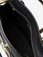 Lauren Ralph Lauren - Leather Medium Fenwick Satchel - handväskor - black/antique gol - 4