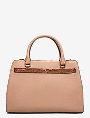 Lauren Ralph Lauren - Leather Medium Fenwick Satchel - håndtasker - nude/deep saddle - 1