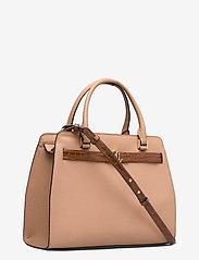Lauren Ralph Lauren - Leather Medium Fenwick Satchel - håndtasker - nude/deep saddle - 2