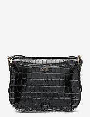 Lauren Ralph Lauren - Embossed Leather Medium Addie Crossbody - crossbody bags - black - 1