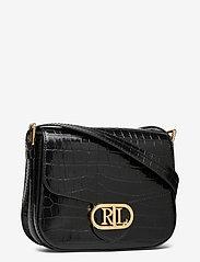 Lauren Ralph Lauren - Embossed Leather Medium Addie Crossbody - crossbody bags - black - 2