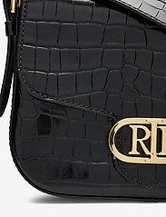 Lauren Ralph Lauren - Embossed Leather Medium Addie Crossbody - crossbody bags - black - 3