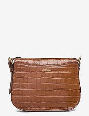 Lauren Ralph Lauren - Embossed Leather Medium Addie Crossbody - crossbody bags - deep saddle tan - 1