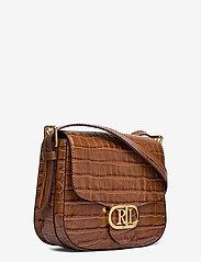 Lauren Ralph Lauren - Embossed Leather Medium Addie Crossbody - crossbody bags - deep saddle tan - 2