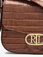 Lauren Ralph Lauren - Embossed Leather Medium Addie Crossbody - crossbody bags - deep saddle tan - 3