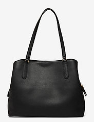 Lauren Ralph Lauren - Leather Large Quinn Shoulder Bag - shoppere - black - 1