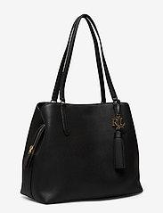 Lauren Ralph Lauren - Leather Large Quinn Shoulder Bag - shoppere - black - 2