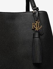 Lauren Ralph Lauren - Leather Large Quinn Shoulder Bag - shoppere - black - 3